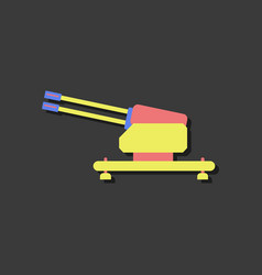 Flat icon design collection anti aircraft gun vector