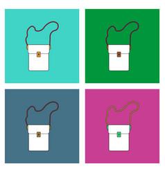 Flat icon design collection military portfolio vector