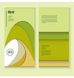 Flyer with abstract green pattern vector