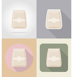 Food objects flat icons 13 vector