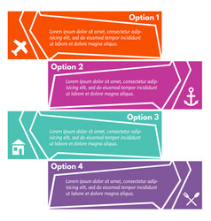 four elements of infographic design with icons vector image