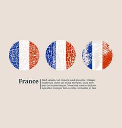 France flag design concept vector