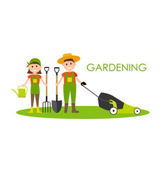 garden background farmer vector image
