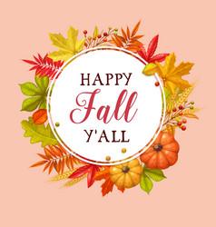 happy fall y all card vector image