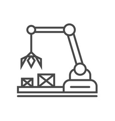 heavy industry crane linear icon vector image