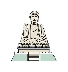 Hong kong t landmark - buddha monument vector