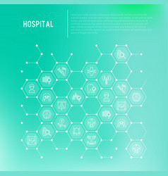 Hospital concept in honeycombs vector