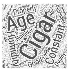 How To Properly Age A Cigar Word Cloud Concept vector