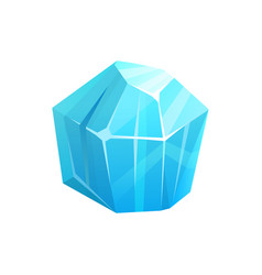 Ice crystal rock iceberg frozen snow blue glass vector