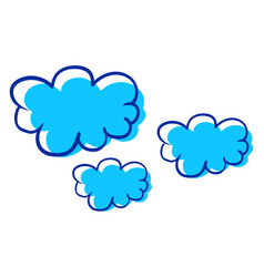 Interesting cloud on white background vector