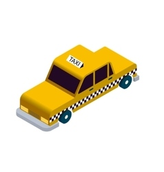 Isometric taxi icon vector