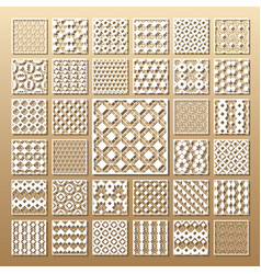 Laser cut panels vector