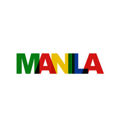Manila phrase overlap color no transparency vector