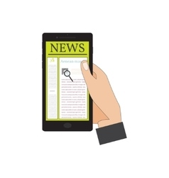 Mobile News vector