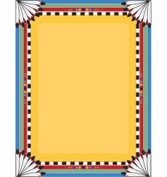 native border vector image