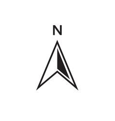 north arrow icon design vector image