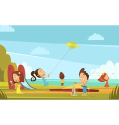 Playing Children Background vector image