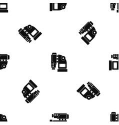 pneumatic hammer machine pattern seamless black vector image