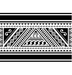 Polynesian tribal seamless pattern vector
