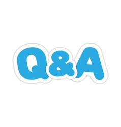 Questions and answers design vector