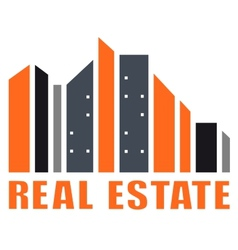 real estate symbol with many skyscraper vector image