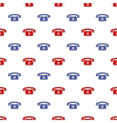 Retro Phone Pattern Silhouette of Old Telephone vector image