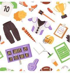rugrugger sportswear and ball vector image