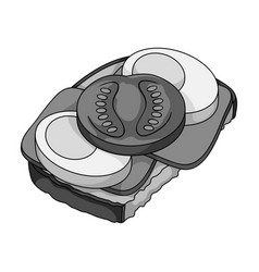 sandwiches single icon in monochrome style vector image