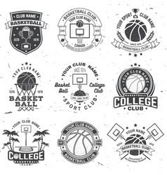 set of basketball club badge concept for vector image