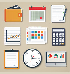 set of business elements of marketing reporting vector image