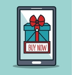 smartphone cyber monday buy now gift vector image