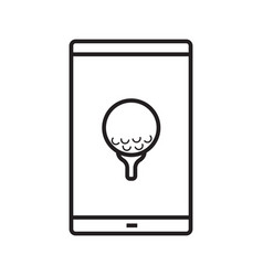 smartphone golf game app linear icon vector image