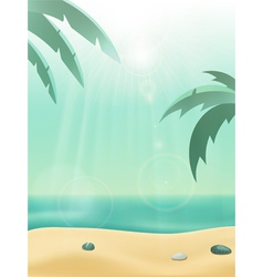 summer sea view vector image