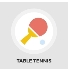 Table tennis icon flat vector