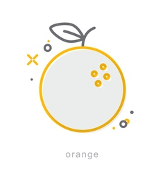 Thin line icons Orange vector image