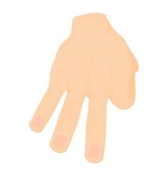 Three fingers icon cartoon style vector