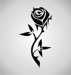 Tribal Rose Tattoo vector image