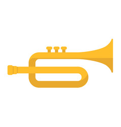 Trumpet flat icon music and instrument vector