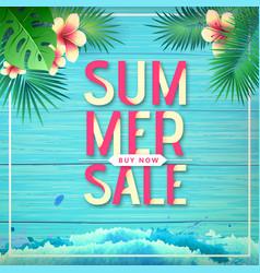 typography summer big sale poster vector image