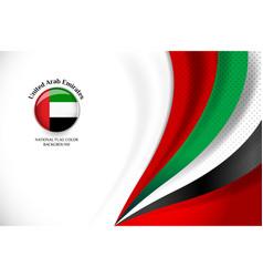 Uae flag background vector
