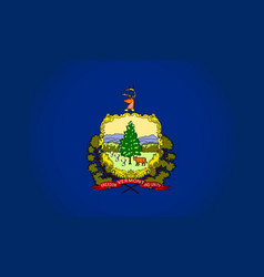 Vermont state flag vector