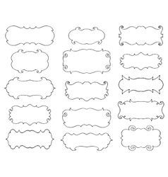 Vintage hand drawn frames set vector