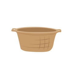 Wicker basket container icon vector