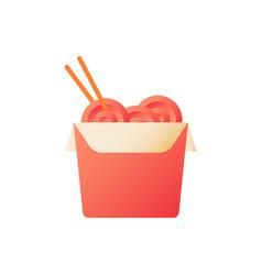 wok box flat color icon vector image