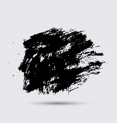 black paint ink brush strokes brushes lines vector image vector image