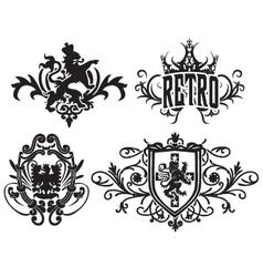 classic royal heraldic emblem vector image vector image