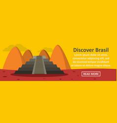 discover brasil banner horizontal concept vector image