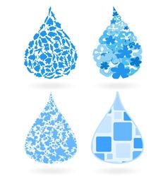 drop of water vector image vector image