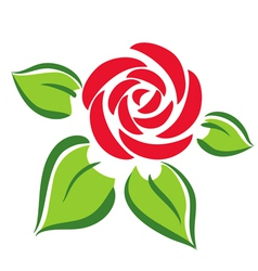 Rose flower symbol tatoo vector