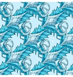 Seamless abstract pattern - ice vector image vector image